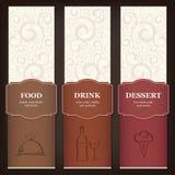 Конструкция меню ресторана Стоковые Изображения RF