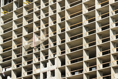 Конструкция монолитового жилого дома в Москве, России Стоковые Изображения