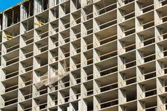 Конструкция монолитового жилого дома в Москве, России Стоковое фото RF