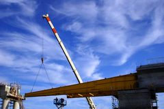 конструкция моста вниз Стоковые Фотографии RF