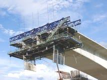 конструкция моста вниз стоковое фото