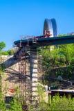 Конструкция моста в Киеве, Украине стоковая фотография rf