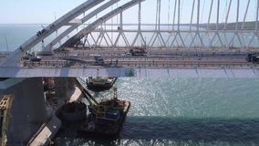 Конструкция моста Крыма 26-ого апреля 2018 видеоматериал