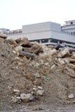 Конструкция насыпи почвы стоковые фото