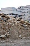 Конструкция насыпи почвы стоковая фотография rf