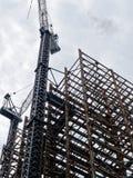 Конструкция небоскреба железного каркаса Стоковое фото RF