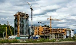Конструкция нового жилого района Стоковое Фото
