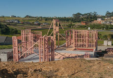 Конструкция нового жилищного строительства, Окленда, Новой Зеландии Стоковая Фотография RF