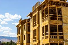 Конструкция нового жилого дома стоковая фотография rf