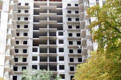 Конструкция нового многоэтажного здания Стоковые Изображения RF