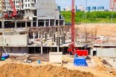 Конструкция нового дома жилища. Стоковая Фотография RF