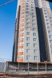 Конструкция нового современного многоквартирного дома Стоковая Фотография RF