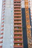 Конструкция нового современного многоквартирного дома Стоковое Изображение RF