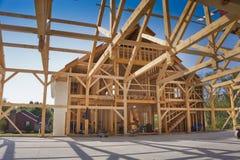 Конструкция нового дома Стоковые Изображения