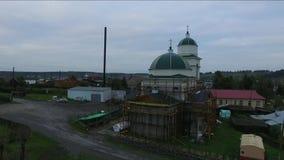 Конструкция новой деревянной церков Staroutkinsk России видеоматериал