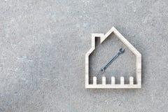 Конструкция дома восстанавливает, улучшение дома Стоковое Фото