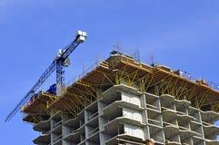 Конструкция дома мульти-этажа жилого Стоковые Фото