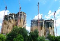Конструкция дома мульти-этажа монолитового Стоковое Изображение