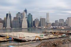 Конструкция парка Бруклинского моста стоковое изображение