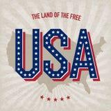 Конструкция плаката США абстрактная Стоковые Изображения