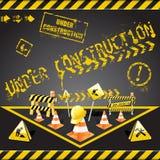 конструкция под предупреждением Стоковое Изображение RF
