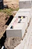 конструкция под стеной стоковое изображение rf