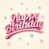 конструкция поздравительой открытки ко дню рождения счастливая Стоковое Изображение RF