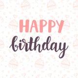 конструкция поздравительой открытки ко дню рождения счастливая Стоковое Изображение