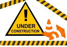 конструкция под предупреждением стоковое фото