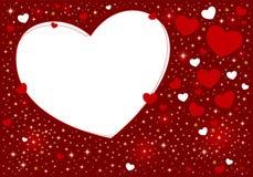 Конструкция предпосылки сердца Стоковые Изображения RF