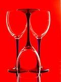 Абстрактная конструкция предпосылки стеклоизделия вина Стоковая Фотография RF