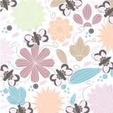 конструкция предпосылки флористическая идеально использует вектор ваш Безшовный цветочный узор с стилизованным цветком и бабочкой иллюстрация вектора