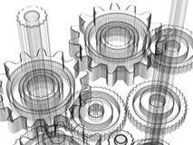 конструкция принципиальной схемы зацепляет промышленное Стоковые Фото