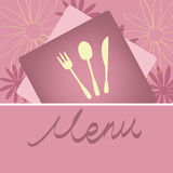 Конструкция принципиальной схемы меню ресторана Стоковое Изображение