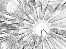 конструкция принципиальной схемы промышленная бесплатная иллюстрация