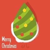 конструкция принципиальной схемы рождества карточки конструирует Новый Год приветствию gh бесплатная иллюстрация