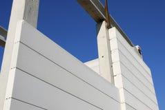 Конструкция промышленного здания с блоками Стоковые Фотографии RF