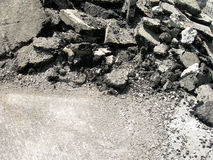 конструкция разрушила улицу Стоковое фото RF