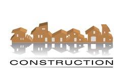 конструкция расквартировывает логос иллюстрация вектора