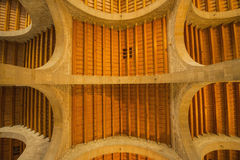 Конструкция древесины и крыши камня Стоковое Изображение