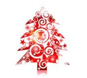 конструкция рождества цветастая Стоковое Изображение