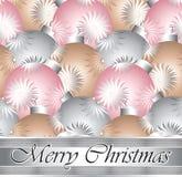 Конструкция рождественской открытки Стоковое Изображение RF