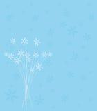 Конструкция рождественской открытки снежинки Стоковые Изображения RF