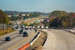 Конструкция скоростного шоссе Стоковые Фото