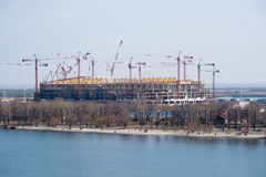 Конструкция стадиона на кубок мира 2018 Rostov On Don Стоковые Изображения RF