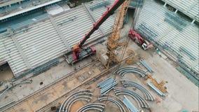 Конструкция строения футбольного стадиона видеоматериал