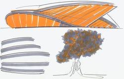 конструкция строения Стоковая Фотография RF