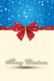 Конструкция с Рождеством Христовым специальная и красный смычок подарка Стоковое фото RF