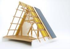 Конструкция с техническими деталями - крыши перевод 3D Иллюстрация штока