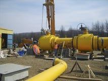 Конструкция трубопровода нефти и газ Стоковые Изображения